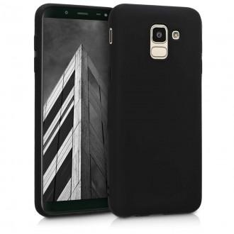 """Juodas silikoninis dėklas Samsung Galaxy J600 J6 2018 telefonui """"Spigen TPU Case"""""""