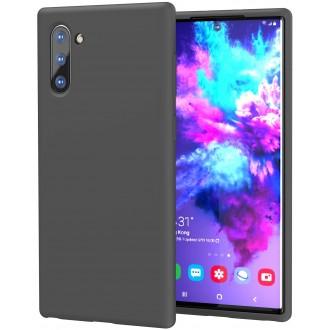 """Juodas silikoninis dėklas Samsung Galaxy N970 Note 10 telefonui """"Mercury Soft Feeling"""""""