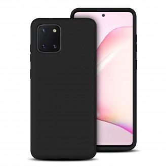 """Juodas silikoninis dėklas Samsung Galaxy Note 10 Lite / A81 telefonui """"Rubber TPU"""""""