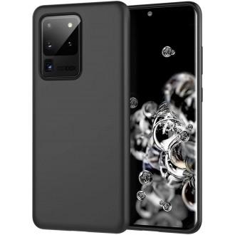 """Juodas silikoninis dėklas Samsung Galaxy S20 Ultra telefonui """"Rubber TPU"""""""