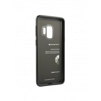 """Juodas silikoninis dėklas Samsung Galaxy S9 telefonui """"Mercury Case """""""