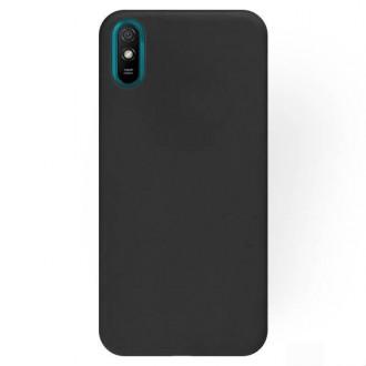 """Juodos spalvos silikoninis dėklas Xiaomi Redmi 9A / 9AT telefonui """"Rubber TPU"""""""