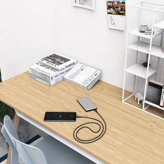 Juodas silikoninis USB kabelis Borofone BX30 Type-C 1.0m