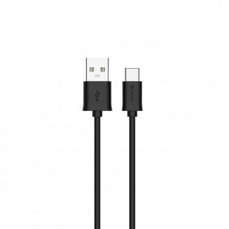 Juodas USB kabelis Devia Smart Type-C 1m