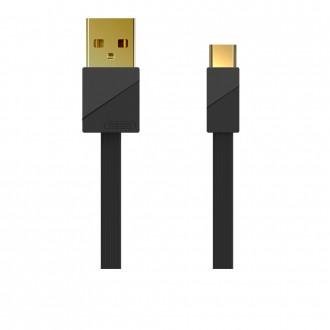Juodas USB kabelis Remax RC-048a Type-C 3A 1.0m