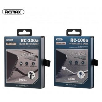 Juodas USB kabelis Remax RC-100m microUSB 2.4A 1.0m