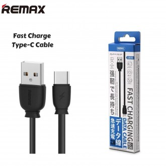Juodas USB kabelis Remax RC-134a Type-C 2.1A 1.0m