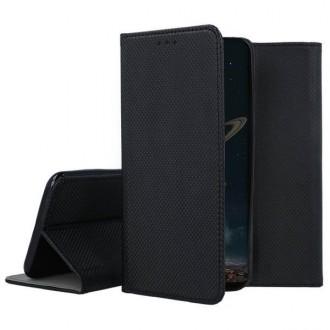 """Juodos spalvos atverčiamas dėklas Apple iPhone 12 mini telefonui """"Smart Magnet"""""""
