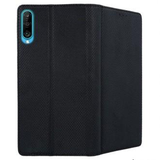 """Juodos spalvos atverčiamas dėklas Huawei P Smart Pro 2019 / Honor Y9s telefonui """"Smart Magnet"""""""