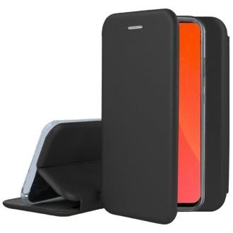 """Juodos spalvos atverčiamas dėklas Huawei P Smart Pro 2019 / Honor Y9s telefonui """"Book elegance"""""""