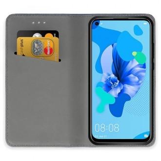 """Juodos spalvos atverčiamas dėklas Huawei P20 Lite 2019 telefonui """"Smart Magnet"""""""
