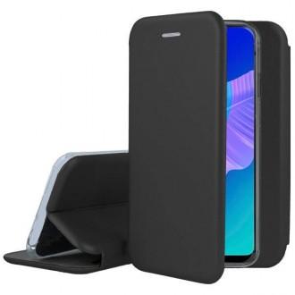 """Juodos spalvos atverčiamas dėklas Huawei P40 Lite E / Y7 P telefonui """"Book elegance"""""""