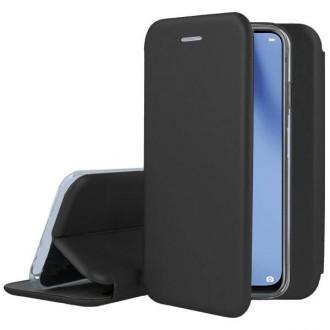 """Juodos spalvos atverčiamas dėklas Huawei P40 Lite telefonui """"Book elegance"""""""