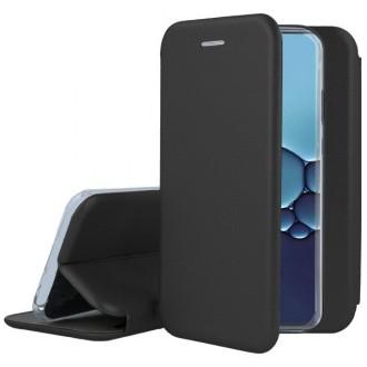 """Juodos spalvos atverčiamas dėklas Huawei P40 telefonui """"Book elegance"""""""