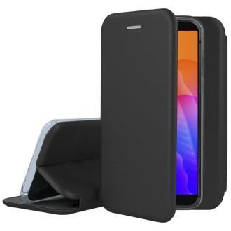 """Juodos spalvos atverčiamas dėklas Huawei Y5P telefonui """"Book Elegance"""""""