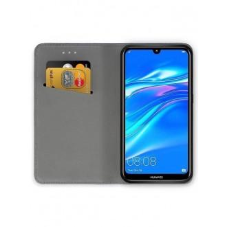 """Juodos spalvos atverčiamas dėklas Huawei Y7 2019 / Y7 Prime 2019 telefonui """"Smart Magnet"""""""