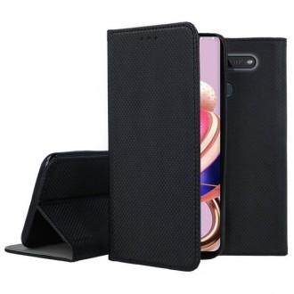 """Juodos spalvos atverčiamas dėklas LG K41S / K51S telefonui """"Smart Magnet"""""""