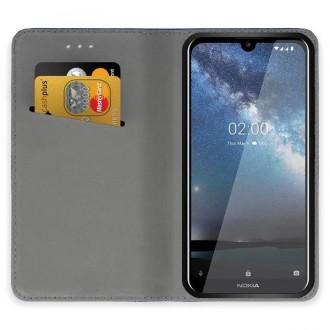"""Juodos spalvos atverčiamas dėklas Nokia 2.2 telefonui """"Smart Magnet"""""""