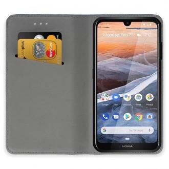"""Juodos spalvos atverčiamas dėklas Nokia 3.2 telefonui """"Smart Magnet"""""""