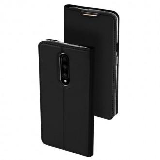 """Juodos spalvos atverčiamas dėklas OnePlus 7 Pro telefonui """"Dux Ducis Skin"""""""