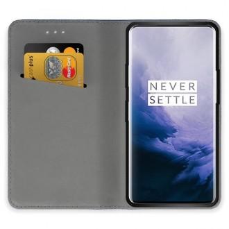 """Juodos spalvos atverčiamas dėklas OnePlus 7 Pro telefonui """"Smart Magnet"""""""