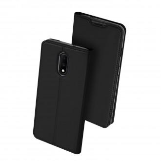 """Juodos spalvos atverčiamas dėklas OnePlus 7 telefonui """"Dux Ducis Skin"""""""