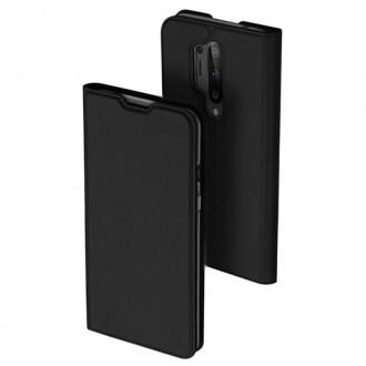 """Juodos spalvos atverčiamas dėklas Oneplus 8 Pro telefonui """"Dux Ducis Skin"""""""