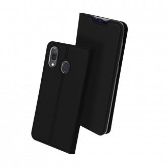 """Juodos spalvos atverčiamas dėklas Samsung A202 A20e telefonui """"Dux Ducis Skin"""""""