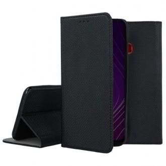 """Juodos spalvos atverčiamas dėklas Samsung Galaxy A20s telefonui """"Smart Magnet"""""""
