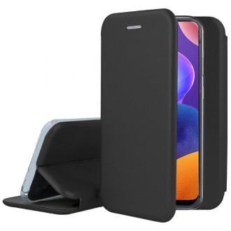 """Juodos spalvos atverčiamas dėklas Samsung Galaxy A31 telefonui """"Book elegance"""""""