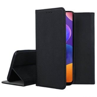 """Juodos spalvos atverčiamas dėklas Samsung Galaxy A31 telefonui """"Smart Magnet"""""""