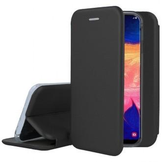"""Juodos spalvos atverčiamas dėklas Samsung Galaxy A515 A51 telefonui """"Book Elegance"""""""