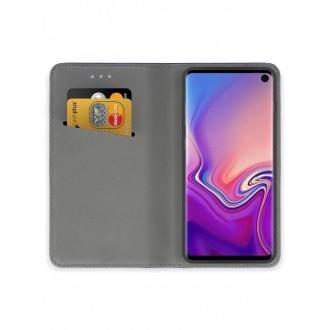 """Juodos spalvos atverčiamas dėklas Samsung Galaxy G973 S10 telefonui """"Smart Magnet"""""""