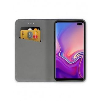 """Juodos spalvos atverčiamas dėklas Samsung Galaxy G975 S10 Plus telefonui """"Smart Magnet"""""""