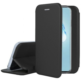 """Juodos spalvos atverčiamas dėklas Samsung Galaxy G988 S20 Ultra telefonui """"Book elegance"""""""