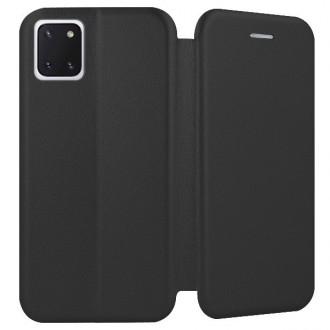 """Juodos spalvos atverčiamas dėklas Samsung Galaxy Note 10 Lite / A81 telefonui """"Book Elegance"""""""
