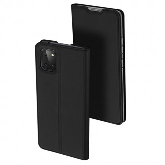 """Juodos spalvos atverčiamas dėklas Samsung Galaxy Note 10 Lite / A81 telefonui """"Dux Ducis Skin"""""""