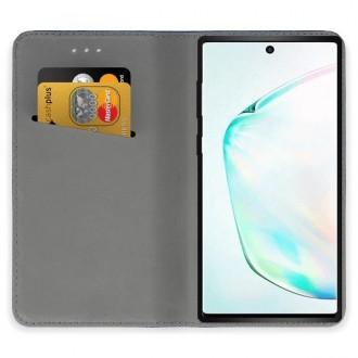 """Juodos spalvos atverčiamas dėklas Samsung Galaxy Note 10 Plus telefonui """"Smart Magnet"""""""