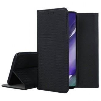"""Juodos spalvos atverčiamas dėklas Samsung Galaxy Note 20 Ultra telefonui """"Smart Magnet"""""""