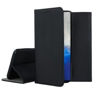 """Juodos spalvos atverčiamas dėklas Samsung Galaxy S20 telefonui """"Smart Magnet"""""""