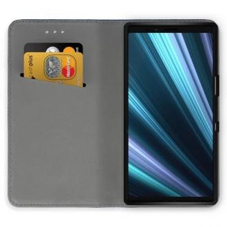 """Juodos spalvos atverčiamas dėklas Sony Xperia 1 / XZ4 telefonui """"Smart Magnet"""""""