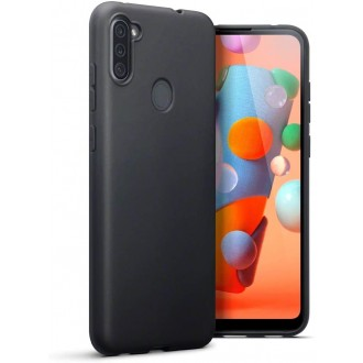 Juodos spalvos dėklas X-Level Dynamic Samsung Galaxy A11 telefonui
