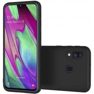 Juodos spalvos dėklas X-Level Dynamic Samsung Galaxy A405 A40 telefonui