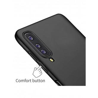 Juodos spalvos dėklas X-Level Guardian Samsung Galaxy A750 A7 2018 telefonui