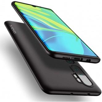 Juodos spalvos dėklas X-Level Guardian Xiaomi Mi Note 10 telefonui