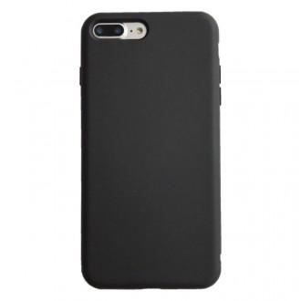 """Juodos spalvos silikoninis dėklas Apple iPhone 12 telefonui """"Liquid Silicone"""" 1.5mm"""