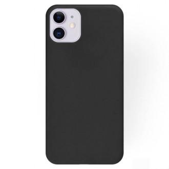 """Juodos spalvos silikoninis dėklas Apple iPhone 12 mini telefonui """"Rubber TPU"""""""