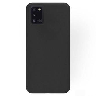 """Juodos spalvos silikoninis dėklas Samsung Galaxy A31 telefonui """"Rubber TPU"""""""