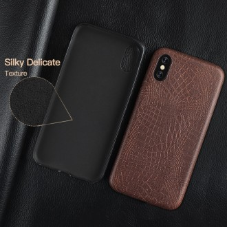 Juodas, Krokodilo Odos Imitacijos Dėkliukas iPhone 7 / 8 / SE 2020 Telefono Modeliui