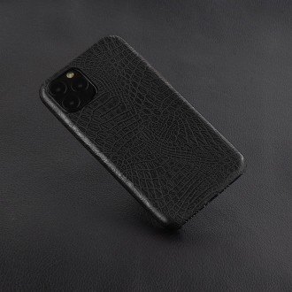 Juodas, Krokodilo Odos Imitacijos Dėkliukas iPhone X / XS Telefono Modeliui